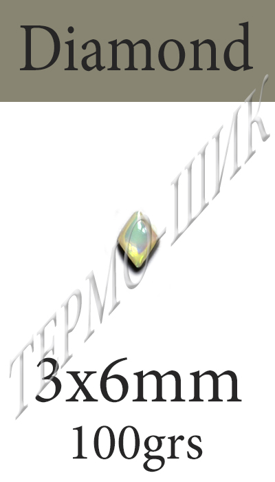 Страз Color Stone Diamond 3x6mm