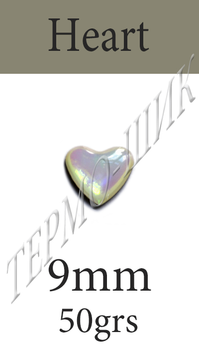Страз Color Stone Heart 9mm