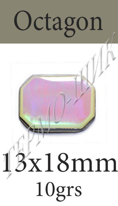 Страз Color-Stone Octagon 13x18mm
